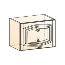 Венеция Шкаф навесной L500 H360 (1 дв. гл.) 2017 (белый/ясень патина золото)