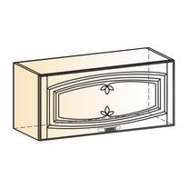 Венеция Шкаф навесной L800 H360 (1 дв. гл.) 2017 (белый/ясень патина золото)