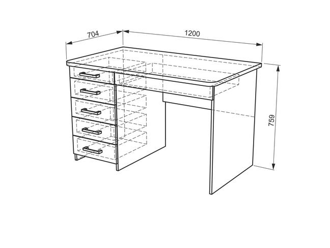 Манхэттен Стол компьютерный 1200 (ясень шимо т./ясень шимо с./капучино)