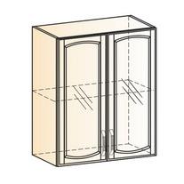 Венеция Шкаф навесной L600 H720 (2 дв. рам.) 2017 (белый/ясень патина золото)