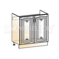Венеция Шкаф рабочий под мойку L800 (2 дв. гл.) 2017 (белый/ясень патина золото)