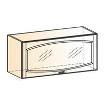 Венеция Шкаф навесной L800 H360 (1 дв. рам.) 2017 (белый/ясень патина золото)