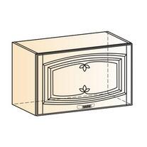 Венеция Шкаф навесной L600 H360 (1 дв. гл.) 2017 (белый/ясень патина золото)
