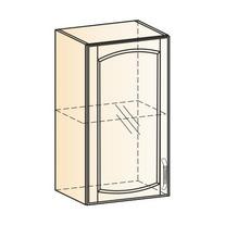 Венеция Шкаф навесной L400 H720 (1 дв. рам.) 2017 (белый/ясень патина золото)