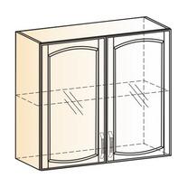 Венеция Шкаф навесной L800 H720 (2 дв. рам.) 2017 (белый/ясень патина золото)