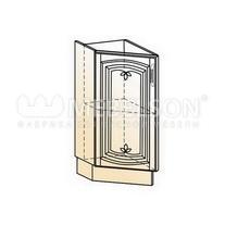 Венеция Шкаф рабочий концевой 45 гр. L300 (1 дв. гл.) 2017 (белый/ясень патина золото)