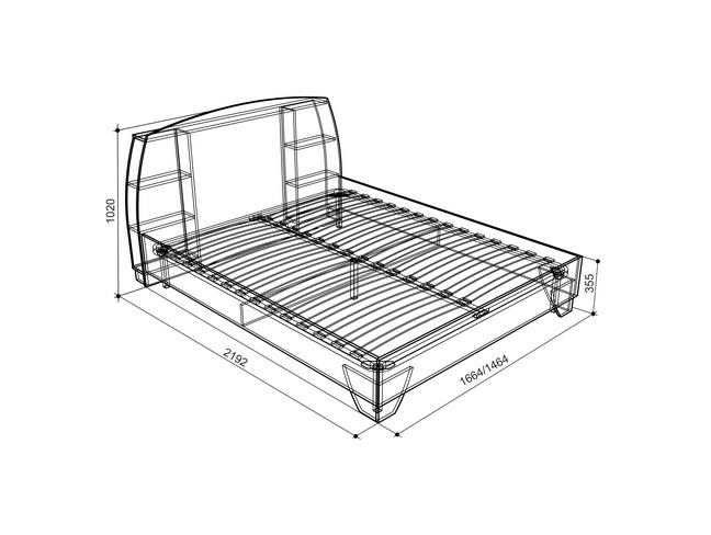 Виктория-2 Кровать 1.6 (дуб млечный)