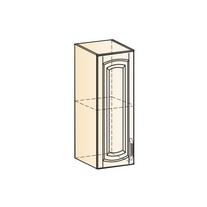 Венеция Шкаф навесной L200 H720 (1 дв. гл.) 2017 (белый/ясень патина золото)