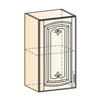 Венеция Шкаф навесной L400 H720 (1 дв. гл.) 2017 (белый/ясень патина золото)